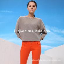 Кашемир доломан свитер женщин штоль жаккарда