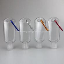 Travel Bottles Bouteilles de désinfectant pour les mains rechargeables avec crochet