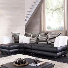 Leather Corner Cushion Sofa Seksi dengan Chaise