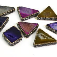 Crystal Triangle Agate Gemstone Pendant