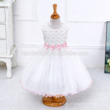 Vestido occidental de la princesa blanca de la muchacha del vestido de bola del verano 2017 desgaste el vestido occidental para la primera comunicación
