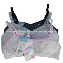 Girls' Bra, Customized Colors and Designs Welcomed