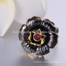 Championship Ring 925 silver ring with black stone