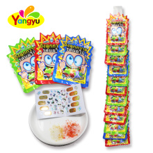 Mixed Fruits Flavors Novelty Candy Magic Tattoo  50% Popping Candy