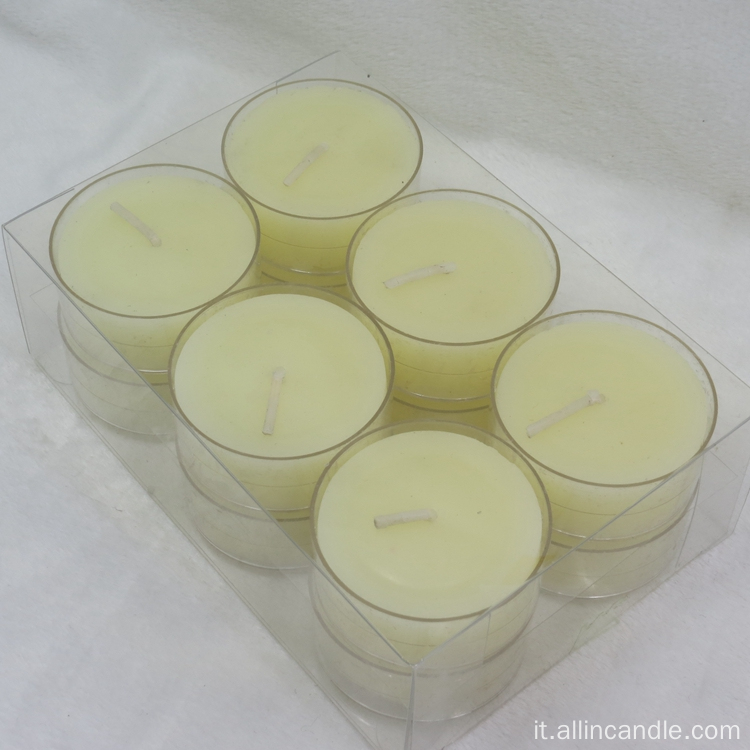 Candela Tea Light da 14g con tazze di Alumium
