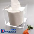 Custom Logo Plexiglass Tissue Box para Uso Geral