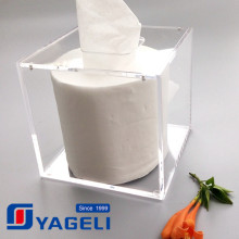 Custom Logo Plexiglass Tissue Box for General Use