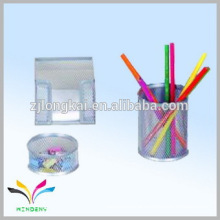 China supplier own factory mesh silver decorative crystal pen holder