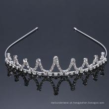 Headband de coroa Tiara princesa prata por atacado