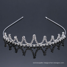 Wholesale Silver Crown Tiara Princess Headband