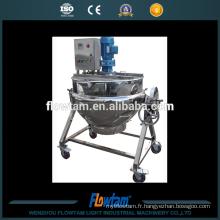 Pots de cuisine industriels électriques en acier inoxydable 100L, pot à vapeur avec mélangeur