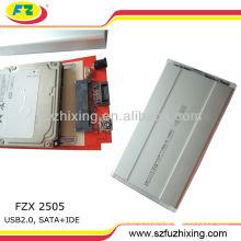 USB 2.0 SATA enclosure case for hdd