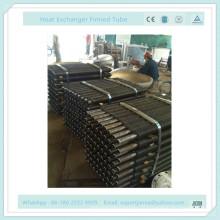 Crimpado SUS304 Tubo con aletas para la planta de condimentos de madera Intercambiador de calor de horno de madera