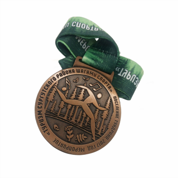 Personalized custom die cast copper sport medal