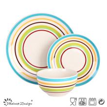 18PCS Cerámica de cerámica pintada a mano Juego de mesa Alimentos Contacto Seguro