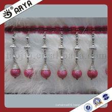2014 New Design Greek long Beaded Curtain Fringe Bead Fringe Feather Fringe For Garment