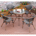 Outdoor bamboo look bistro table