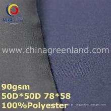 Tecido tecido de sarja de poliéster pongee para vestuário têxtil (gllml331)