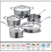 9 PCS Stainless Steel Saucepan Set