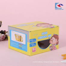 corrugated die cut window gift box for Chinese noodles packaging