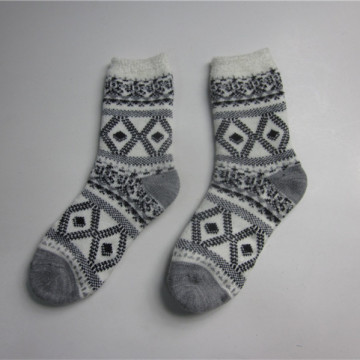 Adult Jacquard Knit Floor Socks