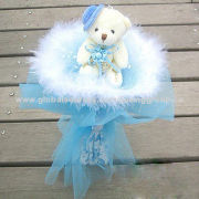 Birthday Artificial Flower with Valentine's Gifts, Dolls Cartoon Flower for Commemoration DayNew