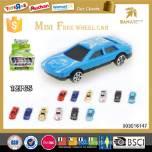 New design cartoon baby toy for sale free wheel car toy