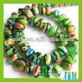 glass bead glass chevron beads