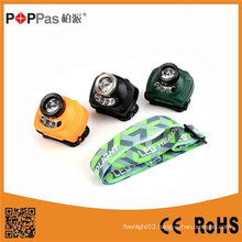 Poppas T15 3W 120lm CREE XPE R2 + 2*Red LED LED Mining Headlamp with Sensor Function
