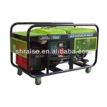 Mobile gasoline welding generator
