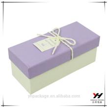 пакет вина упаковывая бумажный фиолетовый подарочной коробки