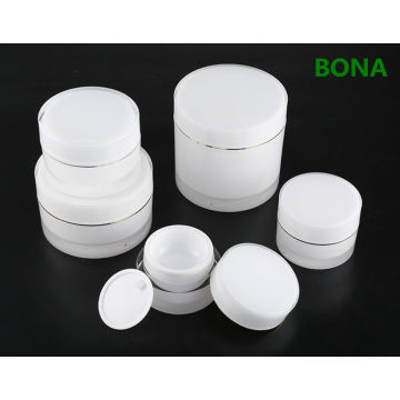 Round Plastic Acrylic Luxury Cream Jar with Lids