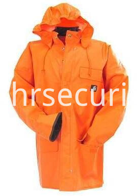 Men's Orange Surrey Waterproof Rain Coat (2)