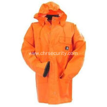 Men's Orange Surrey Waterproof Rain Coat