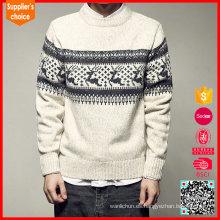 Las nuevas mangas largas hacen punto los suéteres feos de la Navidad del reno del suéter de la Feliz Navidad