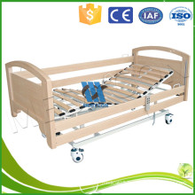 Electric nursing bed for healthcare,Three Function Adjustable Medical Bed Sickbed with Full length Side Rails