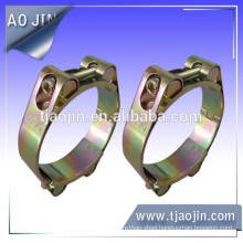 Galvanized iron double bolts hose clamp