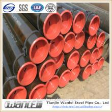 Revestimiento de polietileno de 3 capas Tubo de acero sin costuras API 5L