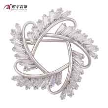 Xuping Fashion Elegant Rhodium Crystals From Swarovski Jewelry Brooch -00009
