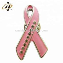 Shuanghua Custom design promocional esmalte de metal rosa fita de lapela pinos