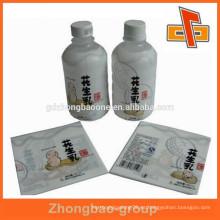 Frascos de líquido de cacahuete PET encogiendo la etiqueta con la impresión modificada para requisitos particulares
