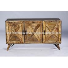 Mobilier de salle à manger vintage industriel Buffet en bois recyclé