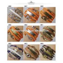 2014 Uni-geflochtenes handgefertigtes Leder-Armband