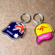 Promotional Acrylic Cap Shaped Keyrings