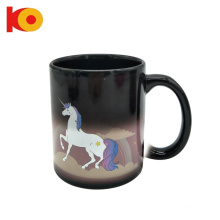 high quality custom Magic Heat sensitive Unicorn Tea Coffee Mug