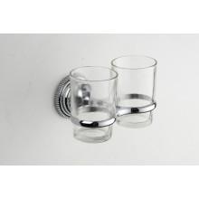 Настенный цинка Новый Конструированный двойной держатель стакана (JN177152)