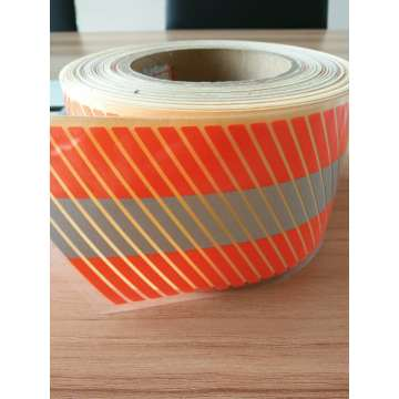 Orange Segmented Heat Transfer Reflective Tape