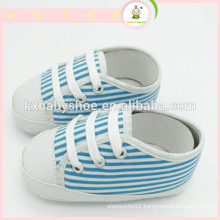 shoes canvas 2015 china wholesale best selling fashion Classic stripes baby safety shoe