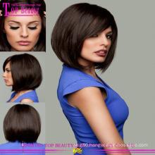 Hot sale brazilian human hair remy lace front bob wigs