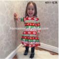 Princesse porter robe de noël robe rayée une pièce 3-5 ans bébé fille robe de fête